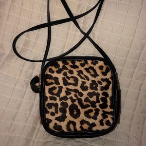 Kate Landry Cheetah Crossbody with double zipper